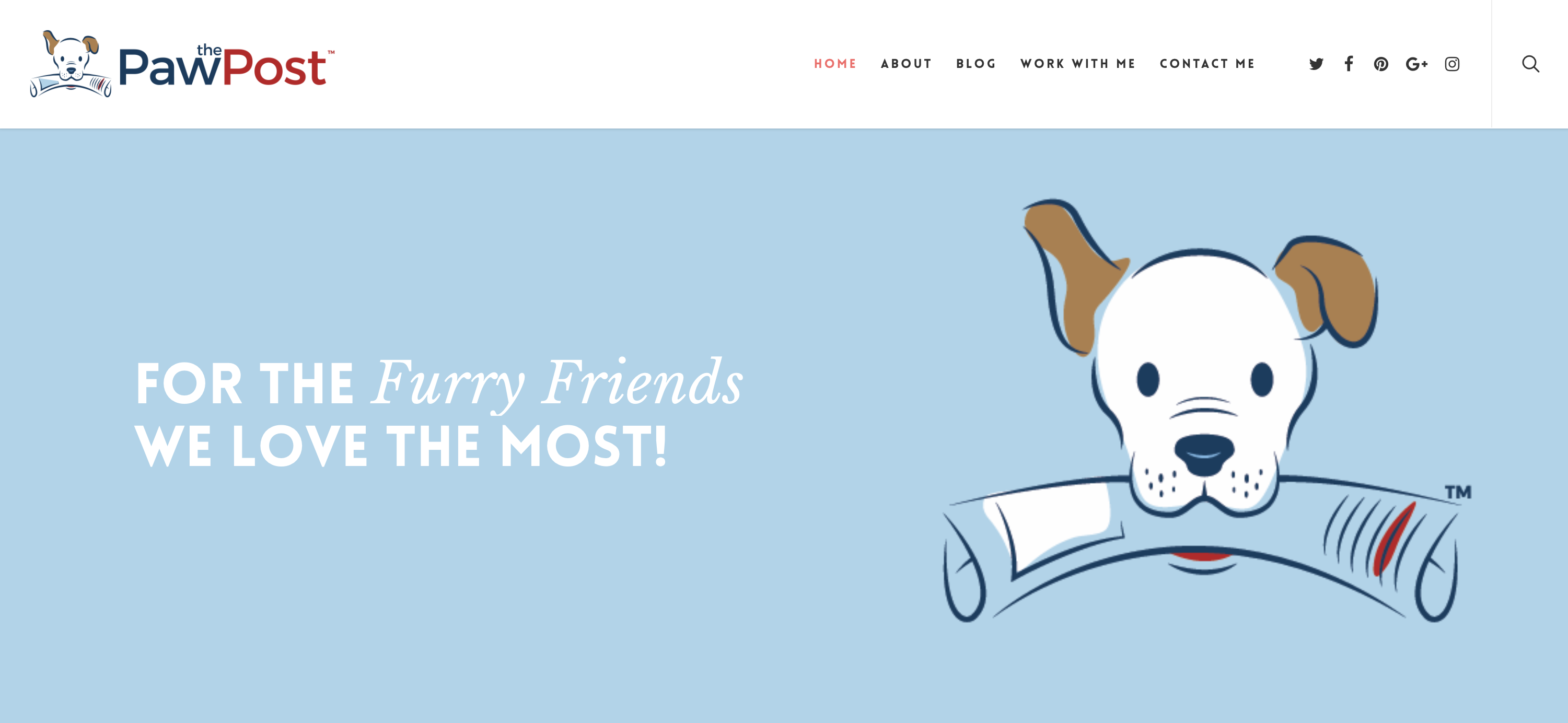 The Paw Post Website and Blog for Pet Businesses