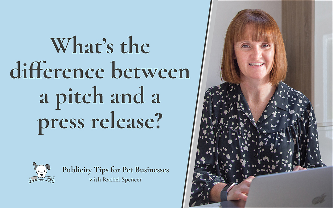 What's the difference between a pitch and a press release?