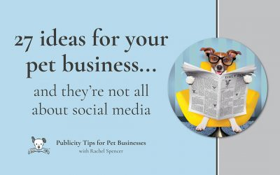 27 ideas to help you promote your pet business