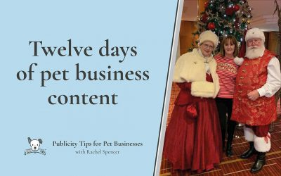 Twelve Days of Pet Business Content Ideas