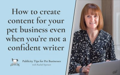 How to create content for your pet business when you're not a confident writer